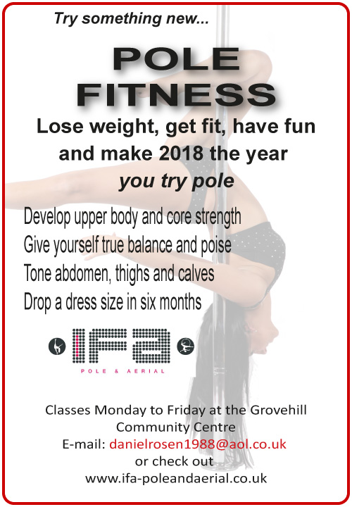 Pole Fitness at the Grovehill Community Centre