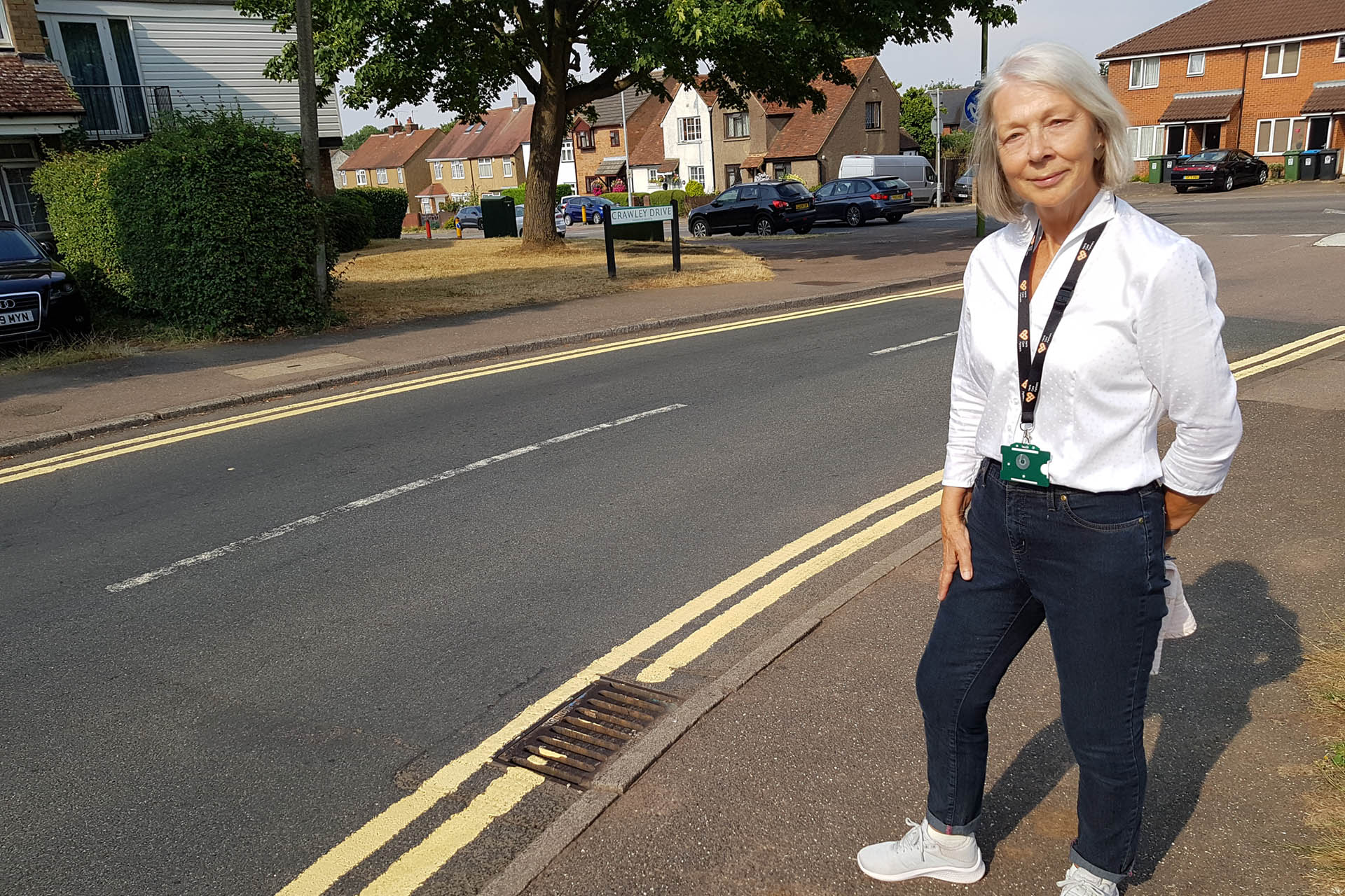 County Councillor Colette Wyatt-Lowe - New yellow lines in Crawley Drive
